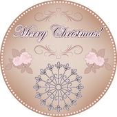 Merry Christmas vintage label — Stock Vector