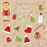 Set of Christmas symbols — Stock Vector #7862640