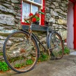 Stock Photo: Old rusty bike