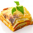 Italian lasagna dish — Stock Photo #6929832