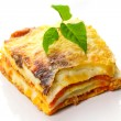Italian lasagna dish - Stock Photo