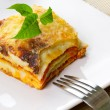Italian lasagna dish — Stock Photo