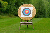 Archery shooting target — Stock Photo