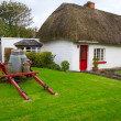 Stock Photo: Traditional cottage houses in Adare