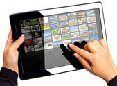 Multimedia tablet — Stock Photo