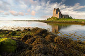 Dunguaire castle at sunset — Stock Photo