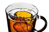 Taza de té con limón — Foto de Stock