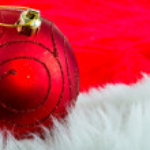 Boże Narodzenie czerwony cacko — Zdjęcie stockowe