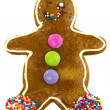 Ginger bread cookie man — Stock Photo