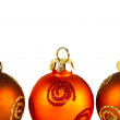 Line of Christmas baubles — Stock Photo #7666236