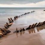 Sunbeam ship wreck on the Rossbeigh beach — Stock Photo #7666262