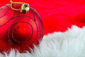 Christmas red bauble — Stock Photo