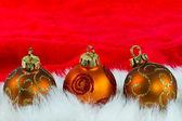 Noel baubles — Stok fotoğraf