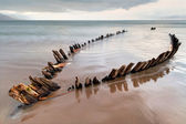Sunbeam schip wrak op het rossbeigh strand — Stockfoto