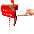 Sending letter to Santa — Stock Photo