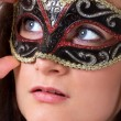 Beautiful girl in mask — Stock Photo #7789241