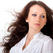 Beautiful long hair brunette — Stock Photo