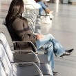 Stock Photo: Waiting for plane