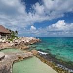 Caribbean sea of Mexico — Stock Photo