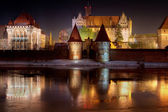 Marienburg Castle in Malbork — Stock Photo