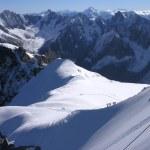 grimpeurs des Alpes — Photo