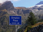 Simplon-pass — Stockfoto