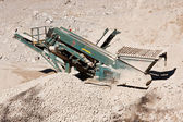Quarry conveyor belt machine — Stock Photo
