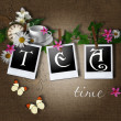 Stock Photo: Tea time card