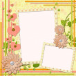 Scrapbook page for two photos — Stock Photo