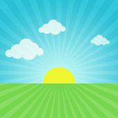 Cielo, sol y pasto — Foto de Stock