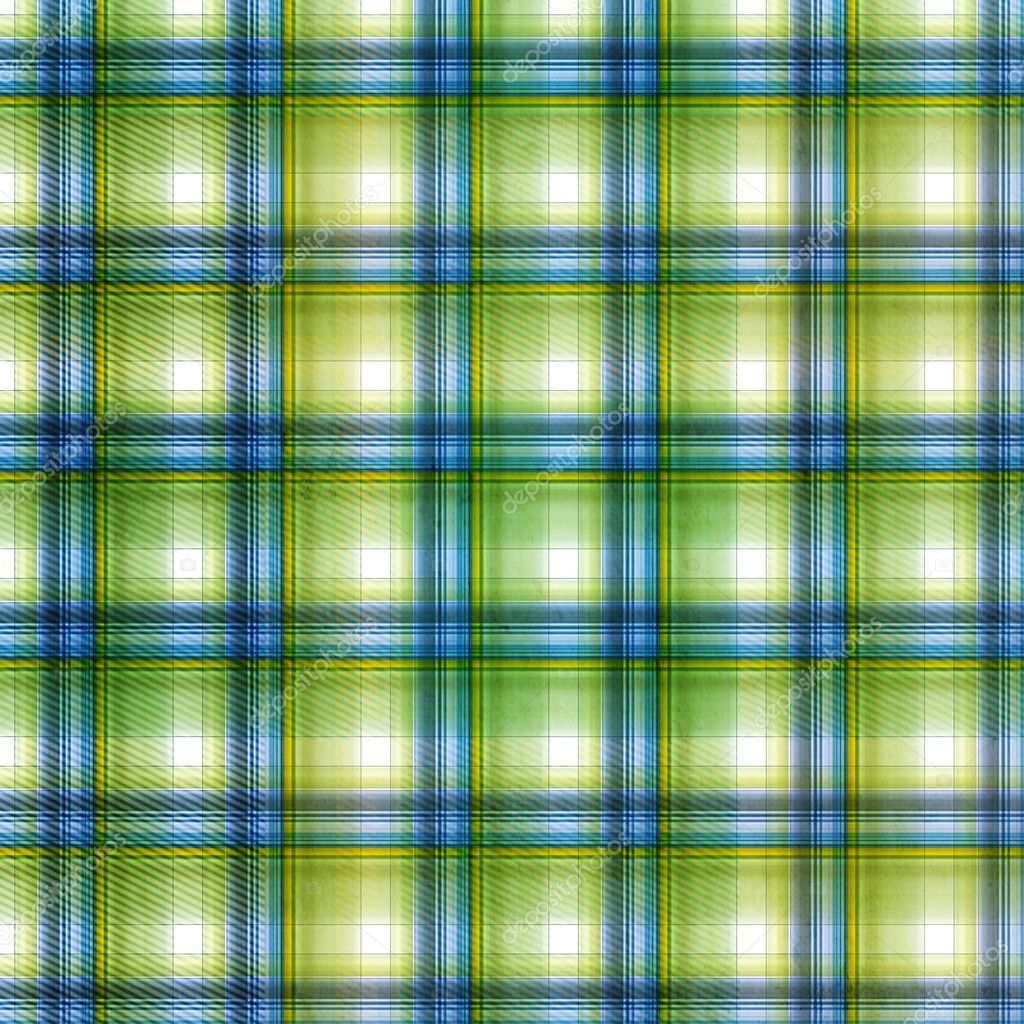 Plaid Background Green Plaid Background in Green