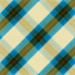 Blue and beige  plaid pattern background - Stock Photo