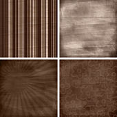 Set of four different retro pattern scrapbook backgrounds — Stock Photo