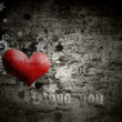 Grunge  background  with the words I love you — Стоковая фотография