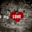 Grunge background with the words be my love — Stock Photo #7498982