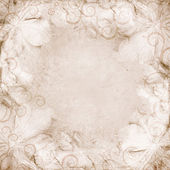 Grunge beige wedding background — Stock Photo