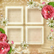 Stock Photo: Vintage Photo Frame with roses
