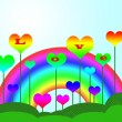 Colorful Rainbow  Background — Stock Photo