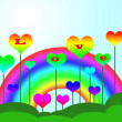 Stock Photo: Colorful Rainbow Background