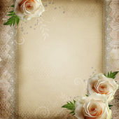Vintage beautiful wedding background — Stock Photo