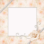 Frame of roses wedding — Stock Photo