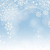 Winter background with snowflakes — Foto Stock