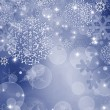 Abstract Christmas background with snowflakes - Foto Stock