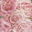 Vintage romantic background with roses — Stock Photo