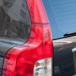 Taillight car close-up, vertical frame — Stock Photo