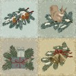 Royalty-Free Stock Vektorfiler: Vintage christmas cards