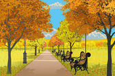 Autumn park — Stock Vector
