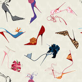High heels seamless pattern — Cтоковый вектор