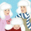 Royalty-Free Stock Imagen vectorial: Family portrait
