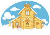 Kış evi — Stok Vektör